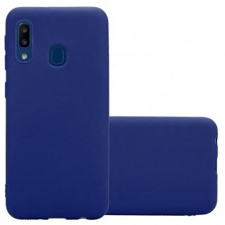 Cadorabo Hülle für Samsung Galaxy A20e in CANDY DUNKEL BLAU - Handyhülle aus flexiblem TPU Silikon - Silikonhülle Schutzhülle Ultra Slim Soft Back Cover Case Bumper