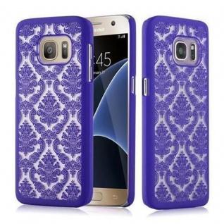 Samsung Galaxy S7 Hardcase Hülle in LILA von Cadorabo - Blumen Paisley Henna Design Schutzhülle ? Handyhülle Bumper Back Case Cover