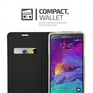 Cadorabo Hülle für Samsung Galaxy NOTE 4 in CLASSY SCHWARZ - Handyhülle mit Magnetverschluss, Standfunktion und Kartenfach - Case Cover Schutzhülle Etui Tasche Book Klapp Style - Vorschau 3