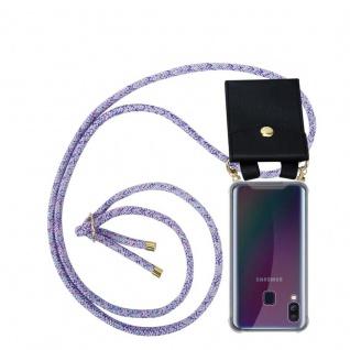 Cadorabo Handy Kette für Samsung Galaxy A40 in UNICORN Silikon Necklace Umhänge Hülle mit Gold Ringen, Kordel Band Schnur und abnehmbarem Etui Schutzhülle