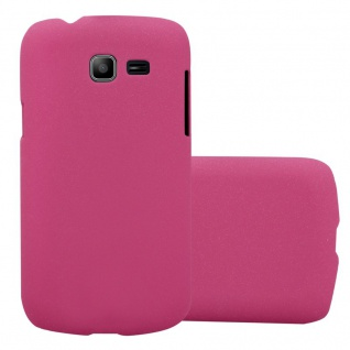 Cadorabo Hülle für Samsung Galaxy TREND LITE in FROSTY PINK - Hardcase Handyhülle aus Plastik gegen Kratzer und Stöße - Schutzhülle Bumper Ultra Slim Back Case Hard Cover