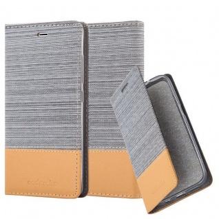 Cadorabo Hülle für Xiaomi Mi 5 in HELL GRAU BRAUN - Handyhülle mit Magnetverschluss, Standfunktion und Kartenfach - Case Cover Schutzhülle Etui Tasche Book Klapp Style