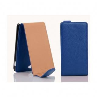 Cadorabo Hülle für Sony Xperia J in KÖNIGS BLAU - Handyhülle im Flip Design aus strukturiertem Kunstleder - Case Cover Schutzhülle Etui Tasche Book Klapp Style - Vorschau 2