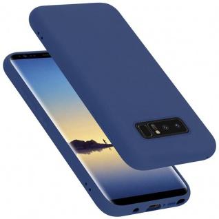 Cadorabo Hülle für Samsung Galaxy NOTE 8 in LIQUID BLAU Handyhülle aus flexiblem TPU Silikon Silikonhülle Schutzhülle Ultra Slim Soft Back Cover Case Bumper