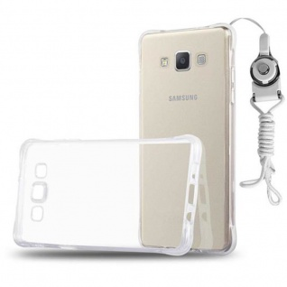 Cadorabo Hülle für Samsung Galaxy A5 2015 (5) - Hülle in KOMPLETT TRANSPARENT - Handyhülle aus TPU Silikon mit Schlaufe im Small Waist Design - Silikonhülle Schutzhülle Ultra Slim Soft Back Cover Case Bumper