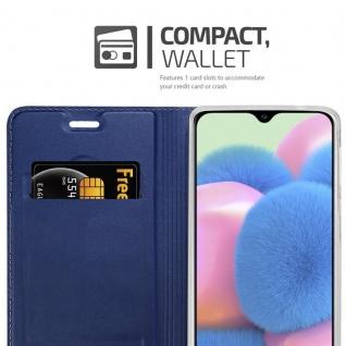 Cadorabo Hülle für Samsung Galaxy A30S in CLASSY DUNKEL BLAU - Handyhülle mit Magnetverschluss, Standfunktion und Kartenfach - Case Cover Schutzhülle Etui Tasche Book Klapp Style - Vorschau 3