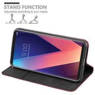Cadorabo Hülle für LG V30 in APFEL ROT Handyhülle mit Magnetverschluss, Standfunktion und Kartenfach Case Cover Schutzhülle Etui Tasche Book Klapp Style - Vorschau 3