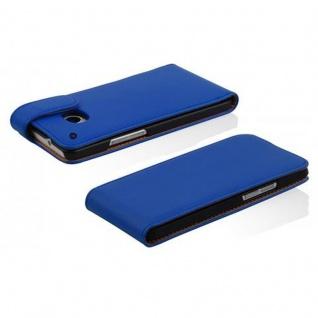 Cadorabo Hülle für HTC ONE MINI M4 in BRILLIANT BLAU - Handyhülle im Flip Design aus glattem Kunstleder - Case Cover Schutzhülle Etui Tasche Book Klapp Style - Vorschau 3