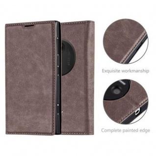 Cadorabo Hülle für Nokia Lumia 1020 in KAFFEE BRAUN - Handyhülle mit Magnetverschluss, Standfunktion und Kartenfach - Case Cover Schutzhülle Etui Tasche Book Klapp Style - Vorschau 2