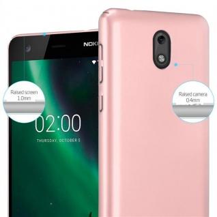 Cadorabo Hülle für Nokia 2 2017 in METALL ROSÉ GOLD - Hardcase Handyhülle aus Plastik gegen Kratzer und Stöße - Schutzhülle Bumper Ultra Slim Back Case Hard Cover - Vorschau 4