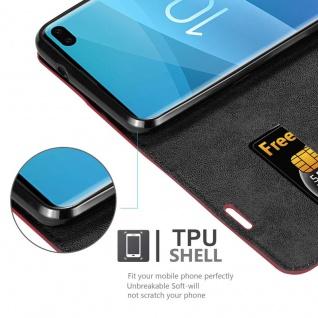 Cadorabo Hülle für Samsung Galaxy S10 PLUS in APFEL ROT - Handyhülle mit Magnetverschluss, Standfunktion und Kartenfach - Case Cover Schutzhülle Etui Tasche Book Klapp Style - Vorschau 2