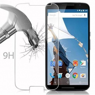 Cadorabo Panzer Folie für Motorola Google NEXUS 6 / 6X - Schutzfolie in KRISTALL KLAR - Gehärtetes (Tempered) Display-Schutzglas in 9H Härte mit 3D Touch Kompatibilität - Vorschau 3