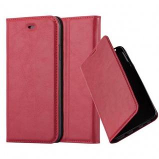 Cadorabo Hülle für Apple iPhone X / XS in APFEL ROT - Handyhülle mit Magnetverschluss, Standfunktion und Kartenfach - Case Cover Schutzhülle Etui Tasche Book Klapp Style