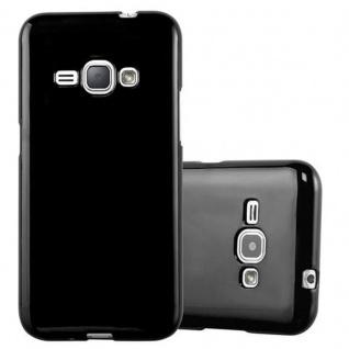 Cadorabo Hülle für Samsung Galaxy J1 2015 in JELLY SCHWARZ ? Handyhülle aus flexiblem TPU Silikon ? Silikonhülle Schutzhülle Ultra Slim Soft Back Cover Case Bumper