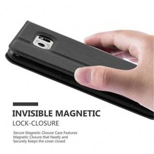 Cadorabo Hülle für Samsung Galaxy S6 in KOMETEN SCHWARZ - Handyhülle mit Magnetverschluss, Standfunktion und 2 Sichtfenstern - Case Cover Schutzhülle Etui Tasche Book Klapp Style - Vorschau 5