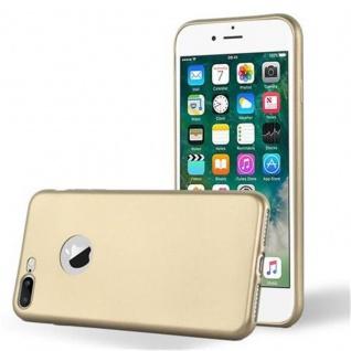 Cadorabo Hülle für Apple iPhone 8 PLUS / iPhone 7 PLUS / iPhone 7S PLUS - Hülle in METALLIC GOLD ? Handyhülle aus TPU Silikon im Matt Metallic Design - Ultra Slim Soft Backcover Case Bumper