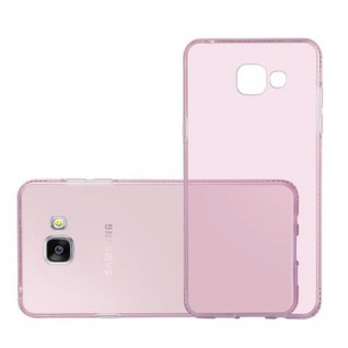 Cadorabo Hülle für Samsung Galaxy A5 2016 (6) - Hülle in TRANSPARENT ROSA - Handyhülle aus TPU Silikon im Strass Design - Silikonhülle Schutzhülle Ultra Slim Soft Back Cover Case Bumper - Vorschau 4