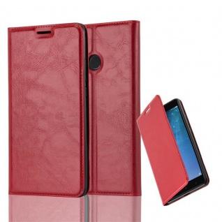 Cadorabo Hülle für Xiaomi Mi MAX 2 in APFEL ROT - Handyhülle mit Magnetverschluss, Standfunktion und Kartenfach - Case Cover Schutzhülle Etui Tasche Book Klapp Style