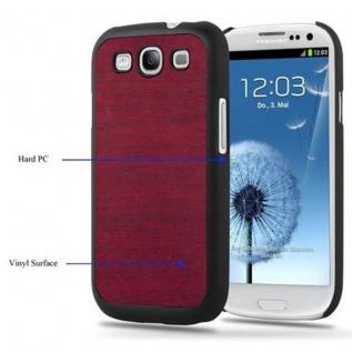 Cadorabo Hülle für Samsung Galaxy S3 / S3 NEO in WOODY ROT ? Hardcase Handyhülle aus Plastik gegen Kratzer und Stöße ? Schutzhülle Bumper Ultra Slim Back Case Hard Cover - Vorschau 3