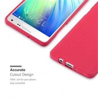 Cadorabo Hülle für Samsung Galaxy A5 2015 in FROST ROT - Handyhülle aus flexiblem TPU Silikon - Silikonhülle Schutzhülle Ultra Slim Soft Back Cover Case Bumper - Vorschau 2