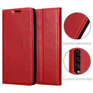 Cadorabo Hülle für Samsung Galaxy A90 5G in APFEL ROT - Handyhülle mit Magnetverschluss, Standfunktion und Kartenfach - Case Cover Schutzhülle Etui Tasche Book Klapp Style - Vorschau 5