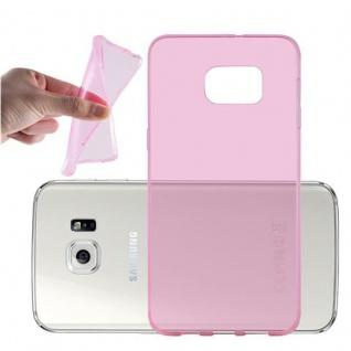 Cadorabo Hülle für Samsung Galaxy S6 EDGE PLUS - Hülle in TRANSPARENT PINK ? Handyhülle aus TPU Silikon im Ultra Slim 'AIR' Design - Ultra Slim Soft Backcover Case Bumper