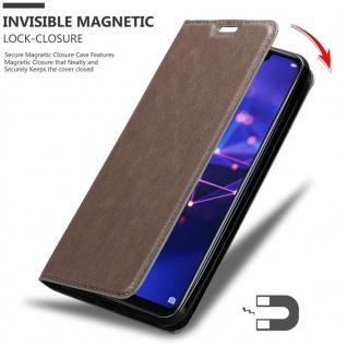 Cadorabo Hülle für Huawei MATE 20 LITE in KAFFEE BRAUN - Handyhülle mit Magnetverschluss, Standfunktion und Kartenfach - Case Cover Schutzhülle Etui Tasche Book Klapp Style - Vorschau 3
