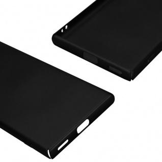 Cadorabo Hülle für Sony Xperia XA1 in METALL SCHWARZ - Hardcase Handyhülle aus Plastik gegen Kratzer und Stöße - Schutzhülle Bumper Ultra Slim Back Case Hard Cover - Vorschau 5