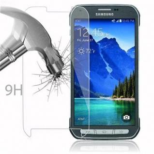 Cadorabo Panzer Folie für Samsung Galaxy S5 Active - Schutzfolie in KRISTALL KLAR - Gehärtetes (Tempered) Display-Schutzglas in 9H Härte mit 3D Touch Kompatibilität - Vorschau 3