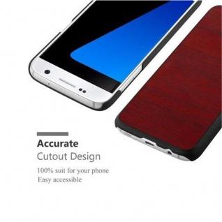 Cadorabo Hülle für Samsung Galaxy S7 in WOODY ROT ? Hardcase Handyhülle aus Plastik gegen Kratzer und Stöße ? Schutzhülle Bumper Ultra Slim Back Case Hard Cover - Vorschau 5