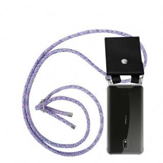 Cadorabo Handy Kette für Nokia 3 2017 in UNICORN Silikon Necklace Umhänge Hülle mit Silber Ringen, Kordel Band Schnur und abnehmbarem Etui Schutzhülle