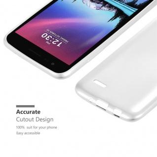Cadorabo Hülle für LG K4 2017 in METALLIC SILBER - Handyhülle aus flexiblem TPU Silikon - Silikonhülle Schutzhülle Ultra Slim Soft Back Cover Case Bumper - Vorschau 5