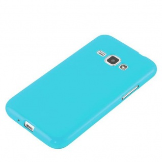Cadorabo Hülle für Samsung Galaxy J1 2015 in JELLY HELL BLAU - Handyhülle aus flexiblem TPU Silikon - Silikonhülle Schutzhülle Ultra Slim Soft Back Cover Case Bumper - Vorschau 2