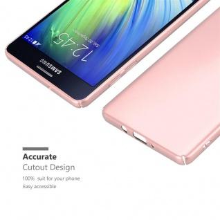 Cadorabo Hülle für Samsung Galaxy A7 2015 in METALL ROSÉ GOLD ? Hardcase Handyhülle aus Plastik gegen Kratzer und Stöße ? Schutzhülle Bumper Ultra Slim Back Case Hard Cover - Vorschau 5