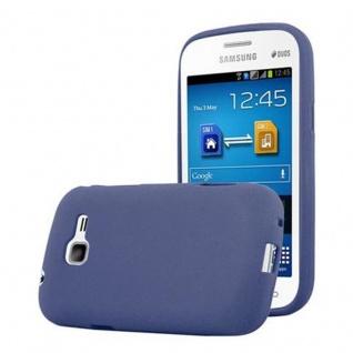 Cadorabo Hülle für Samsung Galaxy TREND LITE in FROST DUNKEL BLAU - Handyhülle aus flexiblem TPU Silikon - Silikonhülle Schutzhülle Ultra Slim Soft Back Cover Case Bumper