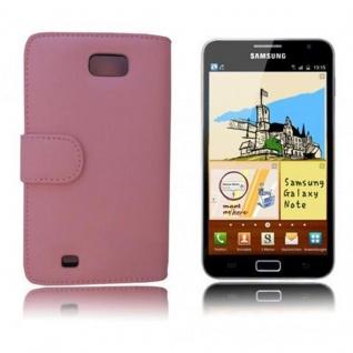 Cadorabo Hülle für Samsung Galaxy NOTE 1 in ANTIK ROSA - Handyhülle aus glattem Kunstleder mit Standfunktion und Kartenfach - Case Cover Schutzhülle Etui Tasche Book Klapp Style - Vorschau 3