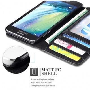 Cadorabo Hülle für Samsung Galaxy A3 2015 in OXID SCHWARZ - Handyhülle mit Magnetverschluss und 3 Kartenfächern - Case Cover Schutzhülle Etui Tasche Book Klapp Style - Vorschau 3