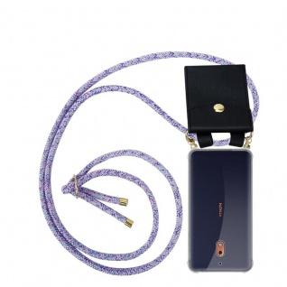 Cadorabo Handy Kette für Nokia 2.1 2018 in UNICORN Silikon Necklace Umhänge Hülle mit Gold Ringen, Kordel Band Schnur und abnehmbarem Etui Schutzhülle