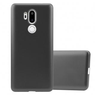 Cadorabo Hülle für LG G7 ThinQ in METALLIC GRAU Handyhülle aus flexiblem TPU Silikon Silikonhülle Schutzhülle Ultra Slim Soft Back Cover Case Bumper