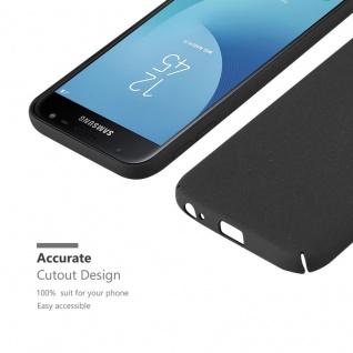 Cadorabo Hülle für Samsung Galaxy J3 2017 in FROSTY SCHWARZ - Hardcase Handyhülle aus Plastik gegen Kratzer und Stöße - Schutzhülle Bumper Ultra Slim Back Case Hard Cover - Vorschau 5