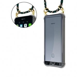 Cadorabo Handy Kette für Huawei P9 PLUS in CAMOUFLAGE - Silikon Necklace Umhänge Hülle mit Gold Ringen, Kordel Band Schnur und abnehmbarem Etui ? Schutzhülle - Vorschau 5
