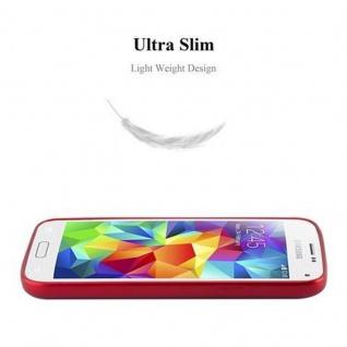 Cadorabo Hülle für Samsung Galaxy S5 MINI / S5 MINI DUOS in METALLIC ROT - Handyhülle aus flexiblem TPU Silikon - Silikonhülle Schutzhülle Ultra Slim Soft Back Cover Case Bumper - Vorschau 5