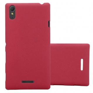 Cadorabo Hülle für Sony Xperia T3 in FROSTY ROT - Hardcase Handyhülle aus Plastik gegen Kratzer und Stöße - Schutzhülle Bumper Ultra Slim Back Case Hard Cover