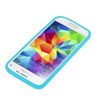 Cadorabo Hülle für Samsung Galaxy S5 MINI / S5 MINI DUOS in JELLY HELL BLAU - Handyhülle aus flexiblem TPU Silikon - Silikonhülle Schutzhülle Ultra Slim Soft Back Cover Case Bumper - Vorschau 2