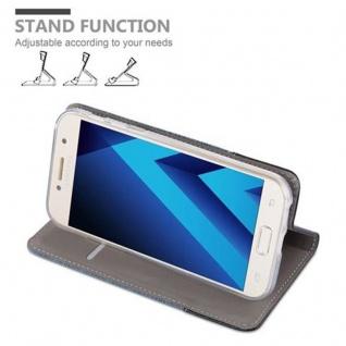Cadorabo Hülle für Samsung Galaxy A5 2017 in DUNKEL BLAU SCHWARZ - Handyhülle mit Magnetverschluss, Standfunktion und Kartenfach - Case Cover Schutzhülle Etui Tasche Book Klapp Style - Vorschau 4