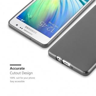 Cadorabo Hülle für Samsung Galaxy A3 2015 in METALLIC GRAU - Handyhülle aus flexiblem TPU Silikon - Silikonhülle Schutzhülle Ultra Slim Soft Back Cover Case Bumper - Vorschau 2