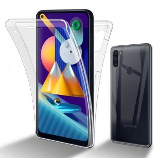 Cadorabo Hülle kompatibel mit Samsung Galaxy A11 EU / M11 in TRANSPARENT - 360° Full Body Handyhülle Front und Rückenschutz Rundumschutz Schutzhülle mit Displayschutz