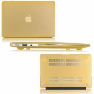 Cadorabo - Mattes HardCase für Apple MacBook AIR 11 (Zoll) ? Case Hartschale Schutzhülle Cover MacBook Tasche in GOLD - leicht und schützend