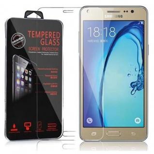 Cadorabo Panzer Folie für Samsung Galaxy On5 - Schutzfolie in KRISTALL KLAR - Gehärtetes (Tempered) Display-Schutzglas in 9H Härte mit 3D Touch Kompatibilität