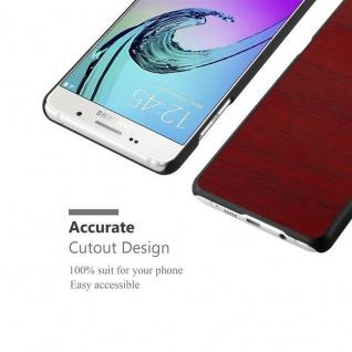 Cadorabo Hülle für Samsung Galaxy A5 2016 in WOODEN ROT ? Handyhülle aus flexiblem TPU Silikon ? Silikonhülle Schutzhülle Ultra Slim Soft Back Cover Case Bumper - Vorschau 5